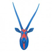 Antilope Troféu de Parede Blue e Orange Fullway99x41