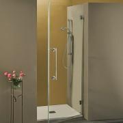 Porta doccia a battente Serry da 80 cm in cristallo 8 mm Satinato DX