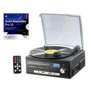 auvisio Kompakt-Stereoanlage MHX-550.LP für Schallplatte, CD, MC, MP3