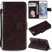 Imprint Flower Leather Wallet Phone Hölje för iPhone 6 Plus / 6s Plus 5,5-tums