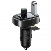 Baseus S-09 T-Type 2xUSB Car Charger %26 Bluetooth FM Transmitter - Black
