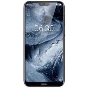 "Telefon Mobil Nokia 6.1 Plus, Procesor Octa-Core 1.8GHz, IPS LCD Capacitive Touchscreen 5.8"", 4GB RAM, 64GB Flash, Camera Duala 16+5MP, Wi-Fi, 4G, Dual Sim, Android (Alb) + Cartela SIM Orange PrePay, 6 euro credit, 6 GB internet 4G, 2,000 minute nationale"