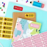 Stikets Mittlere Namensetiketten für Kinder, perfekt für die Schule