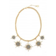 Vince Camuto Crystal Star Necklace YELLOW 01