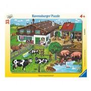 Puzzle Familii de animale, 33 piese