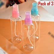 Wonder Star Plastic Refillable Fine Mist Perfume Atomizer Spray Bottle for Travel Beauty Makeup 100 ml Capacity Random
