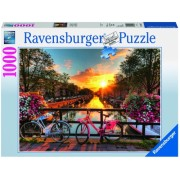 Puzzle biciclete in amsterdam, 1000 piese Ravensburger