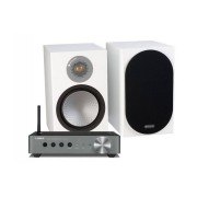 Yamaha WXA-50 + Monitor Audio Silver 100 Satin White