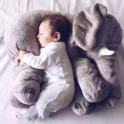 Almohada Suave De Bebé Para Dormir Con Bonito Peluche De Elefante