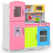 vidaXL Kids' Play Kitchen MDF 80x30x85 cm Multicolour