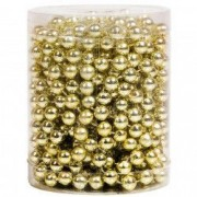 Sirag margele auriu ornament pom brad craciun