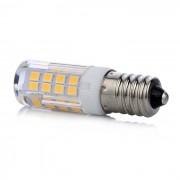 LED lámpa , égő , kukorica , E14 foglalat , 5 Watt , 360° , hideg fehér
