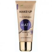 Bielenda Make-Up Academie Matt base de finalização mate para uma cobertura completa tom 3 Caramel 30 g