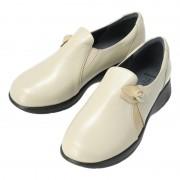 たびらく 牛革5E軽量花モチーフスリッポン【QVC】40代・50代レディースファッション