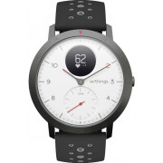 Ceas activity tracker Withings Steel HR Sport 40mm, Bluetooth, Rezistenta la apa (Negru/Alb)