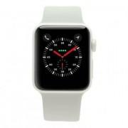 Apple Watch Series 2 Keramikgehäuse blanco 38mm con con correa deportiva blanco