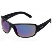 Fastrack P294BU2 Sports Mirrored Sunglasses Black / Blue
