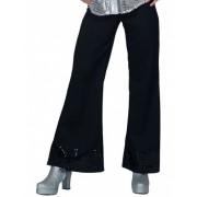Vegaoo Discohose schwarz mit Pailletten für Damen