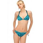 Caribien blue dámské plavky trojúhelníčkové XL modrá