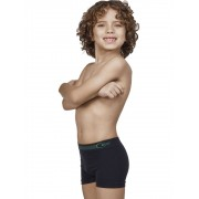 Cueca Infantil Boxer Junior Ultraleve DeMillus 90024