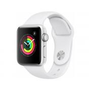 Apple Watch Series 3 Gps Cellular, 38mm Srebrny Z Paskiem W Kolorze Białym