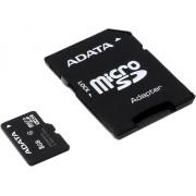 Micro Secure Digital Card Adata, AUSDH8GCL4-RA1, 8Gb, Clasa 4, cu adaptor SD, Negru