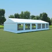 vidaXL Pavilion de grădină, alb, 6 x 12 m, PVC