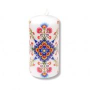 Lumanare decorata manual - motiv traditional 8406