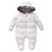 BabyK - Salopeta zapada Padded Snowsuit, Alb