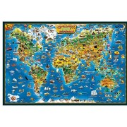 Coeus Wooden Puzzles-a Series of World Geography- A World Map,educational Games for Kids / Puzzles for Adults,1000 Pieces Jigsaw Puzzle