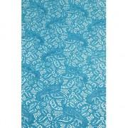 Merkloos Buiten tafelloper aqua blauw anti-slip 150 x 40 cm