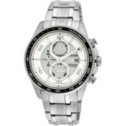 Citizen Round Dial White Stainless Steel Strap Analog Watch for Men - CA0341-52A