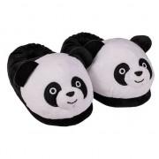Merkloos 3D panda pantoffels voor dames