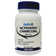 Healthvit Activated Charcoal 250mg 60 Capsules
