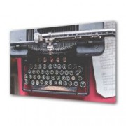 Tablou Canvas Premium Abstract Multicolor Masina De Scris Decoratiuni Moderne pentru Casa 80 x 160 cm
