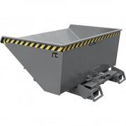 Kippbehälter automatisch Volumen 0,9 m³ grau RAL 7005