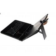Husa tableta 9.7 inch, cu tastatura USB, din piele eco