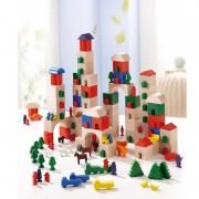 Set de blocuri din lemn Haba Little Amsterdam 166 piese