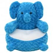 vidaXL kék elefánt plüssjáték