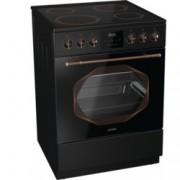 Готварска печка Gorenje EC63INB, клас А, 65 л. обем на фурната, 4 нагревателни зони, 4 функции, Стъклокерамичен плот, DC+ охладждаща система, черна