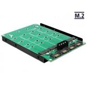 DeLock 3,5″ Converter 4x SATA 7Pin > 4x M.2 NGFF 62554