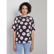 TOM TAILOR MINE TO FIVE T-shirt met print , navy floral design, 34
