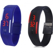 Band Wrist Watch for Kids - 2 Pcs (Colour May Vary)