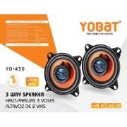 Yobat YO-450 3 Way Speaker 4 Inches 280 Watt Polypropylene Woofer Cone PEI Balanced Dome Tweeter Car Speaker