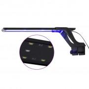 vidaXL Lampă LED pentru acvariu, cu clemă, albastru/alb, 35-55 cm