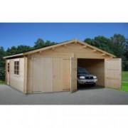 Garaje de madera Roger 7 de 595x530 cm. para Jardín