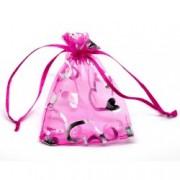 Dárkový pytlík růžový se srdíčky
