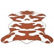vidaXL Tappeto Sagomato 150x220 cm Stampa a Mucca Marrone