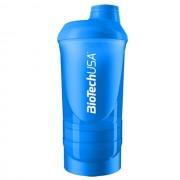Biotech USA Keverőpalack Wave - 600ml(+200ml+150ml) - kék