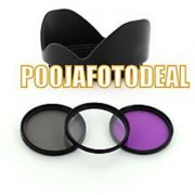 58MM UV CPL FLD FILTER KIT + LENS HOOD FOR CANON EOS 1000D 650D 600D 550D 1100D